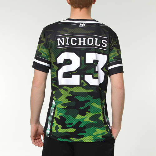 MOVE U Camo Custom Short Sleeve Softball Team Jersey : SF1013