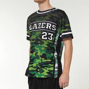 MOVE U Camo Custom Short Sleeve Softball Team Jersey