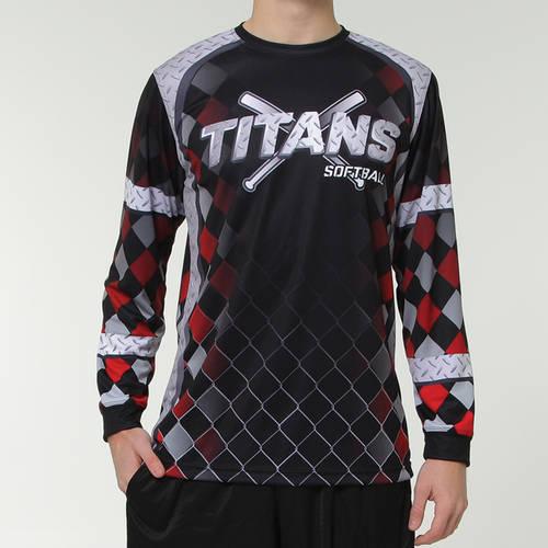MOVE U Steel Custom Long Sleeve Softball Team Jersey : SF1066