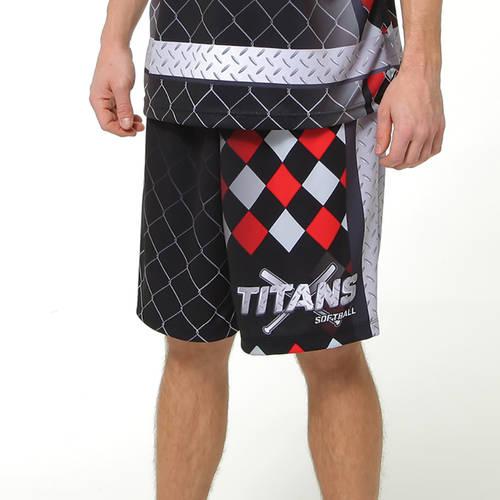 MOVE U Steel Custom Men's Softball Team Shorts : SF1069