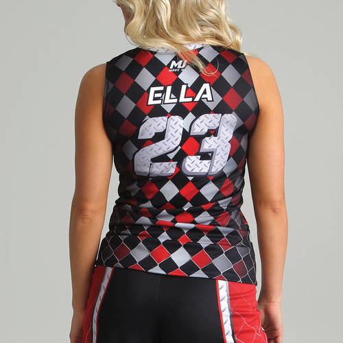 MOVE U Steel Women's Custom V-Neck Sleeveless Jersey : SF1070