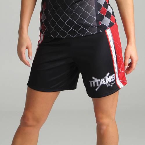 MOVE U Steel Women's Custom Softball Shorts : SF1071