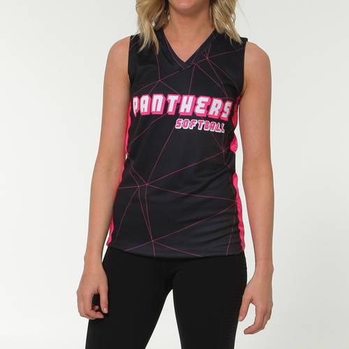 MOVE U Kinetic Women's Custom V-Neck Sleeveless Jersey : SF1084