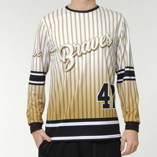 MOVE U Vintage Custom Long Sleeve Softball Team Jersey : SF1095