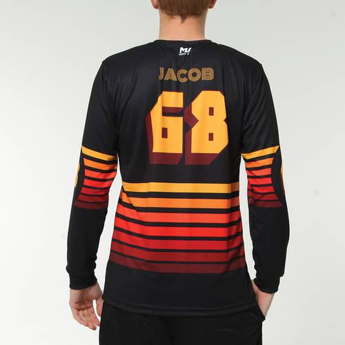 MOVE U Retro Custom Long Sleeve Softball Team Jersey : SF1108