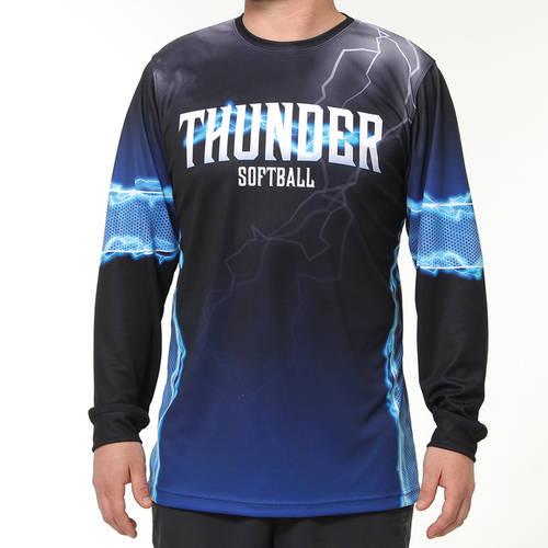 MOVE U Thunder Custom Long Sleeve Softball Team Jersey : SF1121