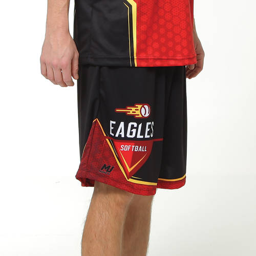 MOVE U Mainframe Custom Men's Softball Team Shorts : SF1137