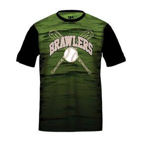 MOVE U Brawlers Custom Short Sleeve Softball Team Jersey