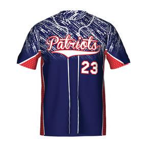 MOVE U Patriots Custom Short Sleeve Softball Team Jersey