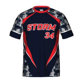 MOVE U Storm Custom Short Sleeve Softball Team Jersey