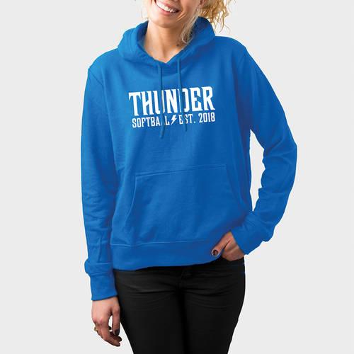 MOVE U Thunder Heavy Blend Custom Softball Team Hoodie : SF1196