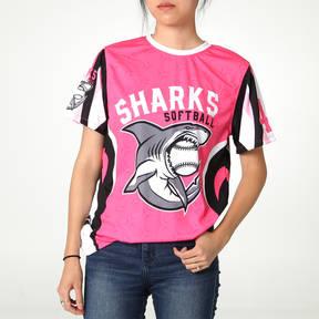 MOVE U Sharks Custom Short Sleeve Softball Team Jersey