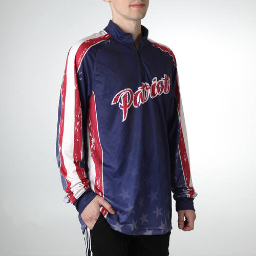 MOVE U Patriot Custom Trap Shooting Long Sleeve Quarter Zip : TS0073