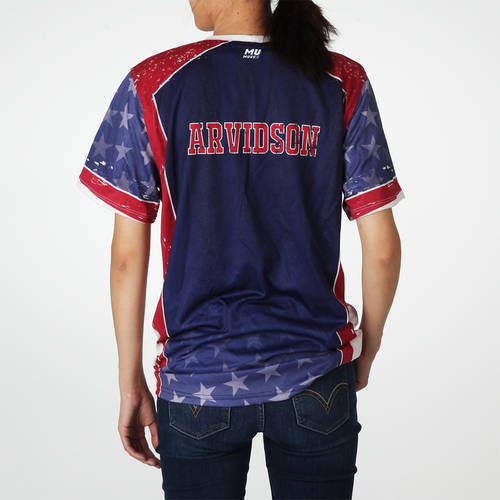 MOVE U Patriot Custom Trap Shooting Short Sleeve Jersey : TS0076