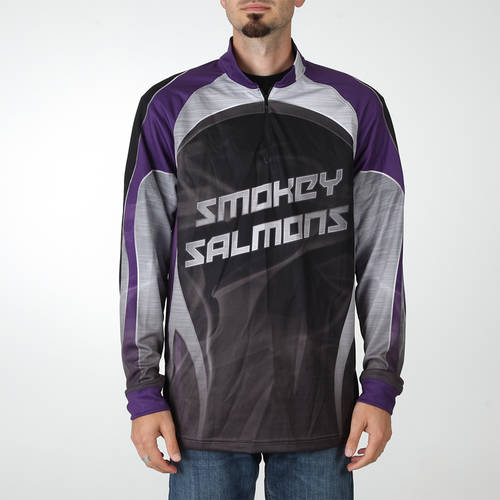 MOVE U Smoke Custom Trap Shooting Long Sleeve Quarter Zip : TS0133