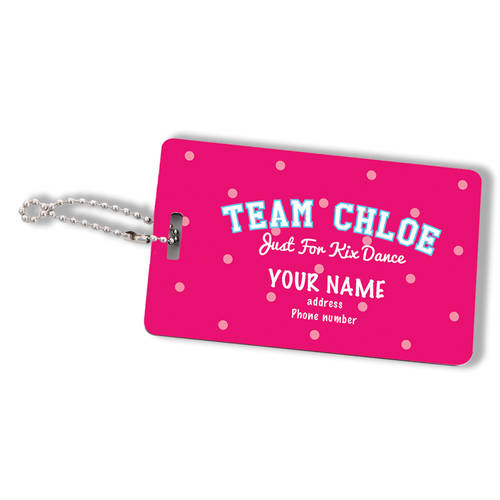 Custom Printed Center Stage Personalized Luggage Tag : WI457