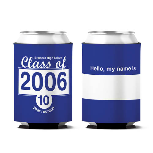 Custom School Reunion Personalized Can Koozie : WI389