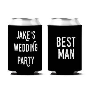 Custom Stag Night Bachelor Party Personalized Can Koozie