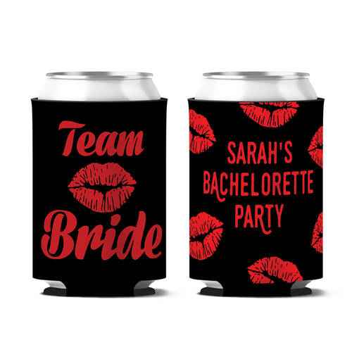 Custom Team Bride Bachelorette Party Personalized Can Koozie : WI392