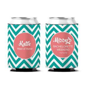 Custom Classy Bachelorette Party Personalized Can Koozie