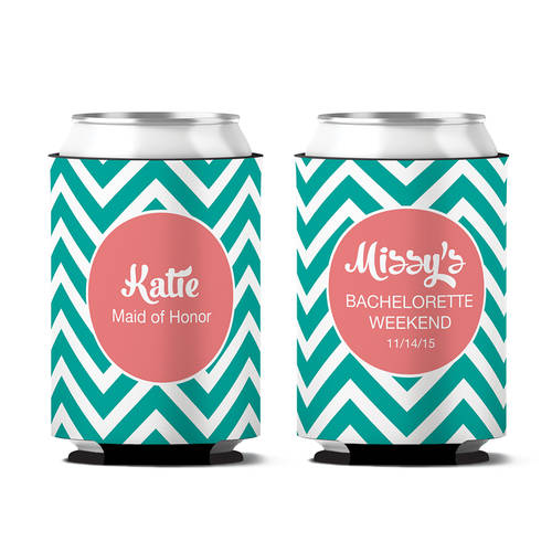Custom Classy Bachelorette Party Personalized Can Koozie : WI393