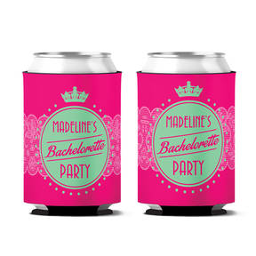 Custom Posh Bachelorette Party Personalized Can Koozie