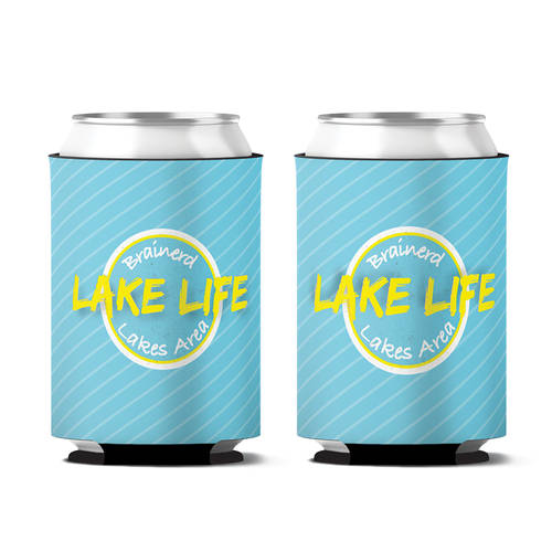 Custom Lake Life Personalized Can Koozie : WI401