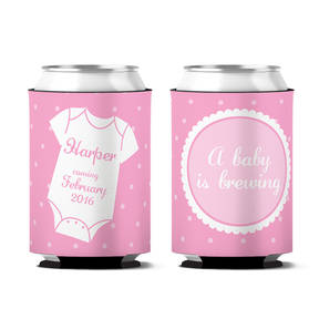 Custom A Baby Is Brewing Personalized Can Koozie