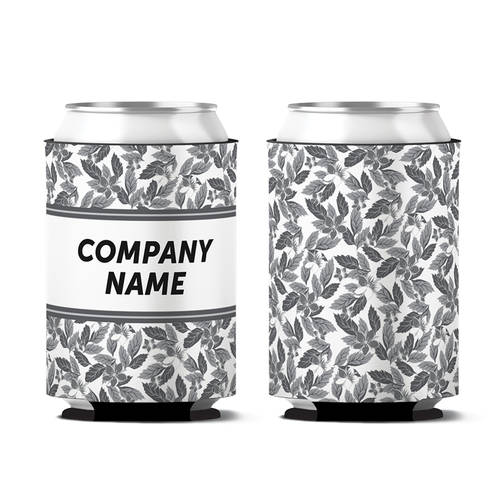 Custom Leaves of Prosperity Personalized Can Koozie : WI407