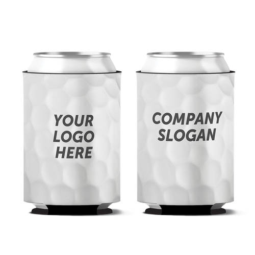 Custom Golf Ball Dimples Personalized Can Koozie : WI415