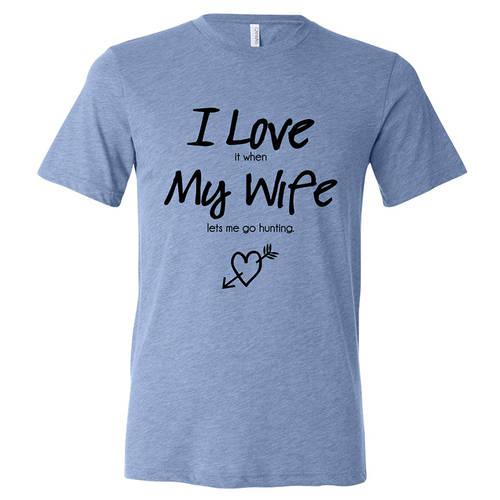 Adult Custom I Love My Spouse Couples Hunting T-Shirt : GP4005