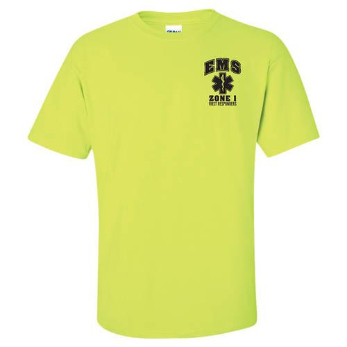 Adult Custom First Responder EMS Safety T-Shirt : GP4008
