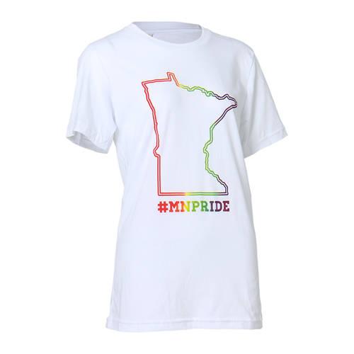 The Teehive #MNPRIDE Minnesota Pride Outline T-Shirt : WI511