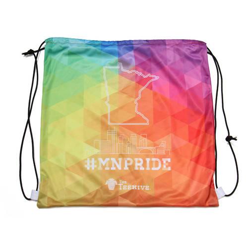 The Teehive #MNPRIDE Minnesota Pride Skyline Cinch Sack : WI514