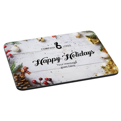 Custom Printed Holiday Cheer Personalized Cushioned Mousepad : WI472