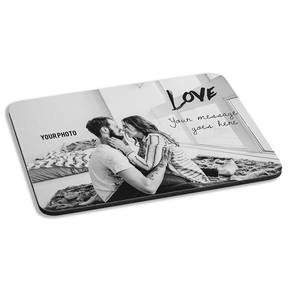 Custom Photo Loving Devotion Personalized Cushioned Mousepad