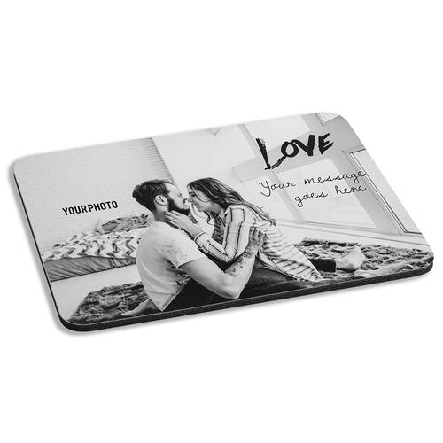 Custom Photo Loving Devotion Personalized Cushioned Mousepad : WI473