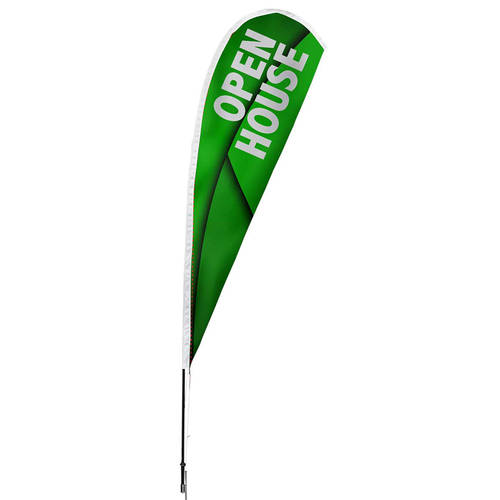 The Teehive Custom Grand Opening Teardrop Banner Feather Flag : WI641
