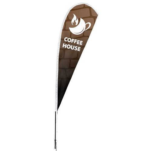 The Teehive Custom Company Logo Teardrop Banner Feather Flag : WI640