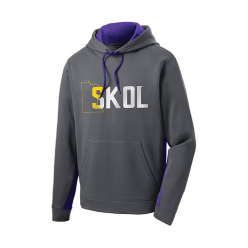 The Teehive Skol Fleece Colorblock Hoodie : WI618