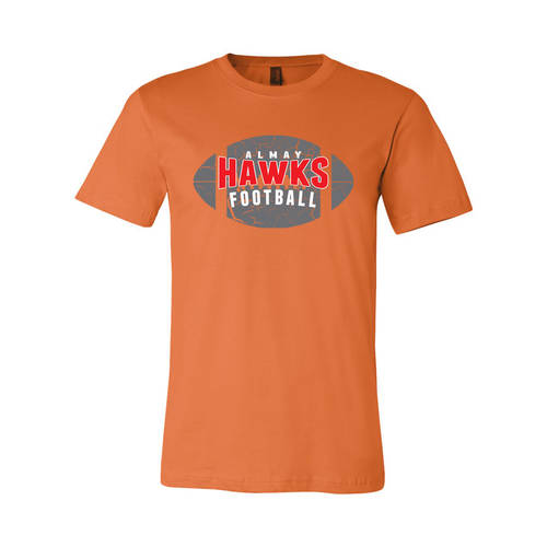 Adult Custom Cracked Football T-Shirt : WI059
