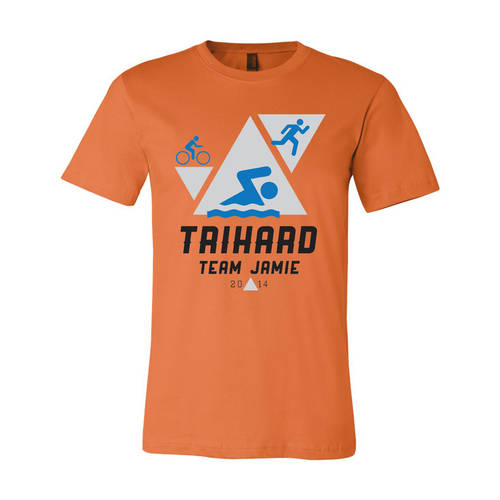 Youth Custom Support Team Triathlon T-Shirt : WI073c