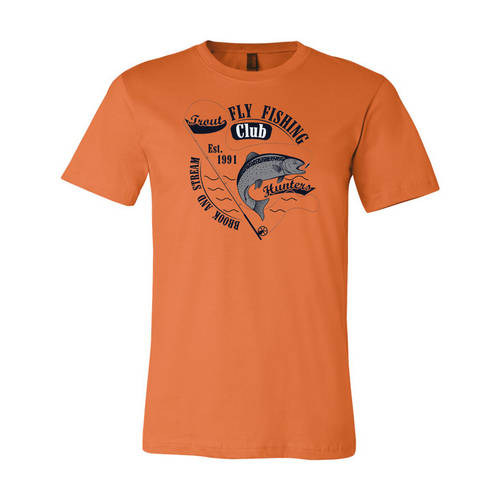 Adult Custom Trout Hunters Fly Fishing Club Outdoors T-Shirt : WI216