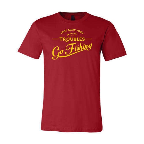 Youth Custom Go Fishing Outdoors T-Shirt : WI220c