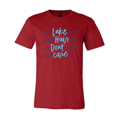 Youth Custom Lake Hair Don't Care Outdoors T-Shirt : WI228c