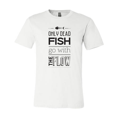 Adult Custom Go With The Flow Outdoors T-Shirt : WI235