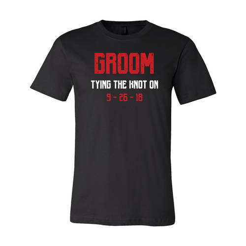 Youth Custom Tying The Knot Groom Bachelor Party T-Shirt : WI319c