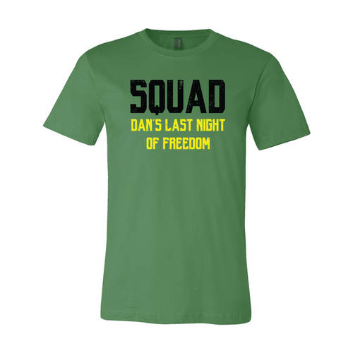 Adult Custom Last Night Of Freedom Bachelor Party T-Shirt : WI320