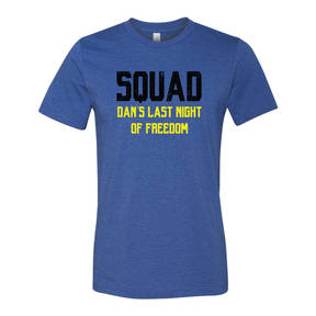 Adult Custom Last Night Of Freedom Bachelor Party T-Shirt