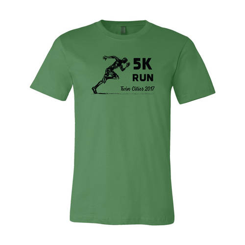Adult Custom Last Leg 5K Run Outdoors Athletic T-Shirt : WI321